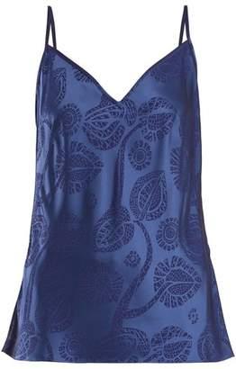 Peter Pilotto Floral Devore Cami Top - Womens - Blue