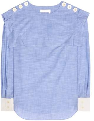 Chloé Cotton chambray top