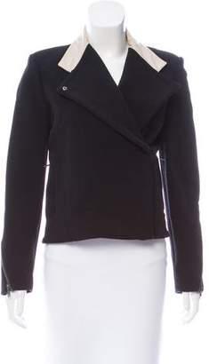 Helmut Lang Leather-Trimmed Zip-Up Jacket