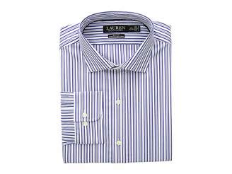 Lauren Ralph Lauren Slim Fit No-Iron Striped Cotton Dress Shirt