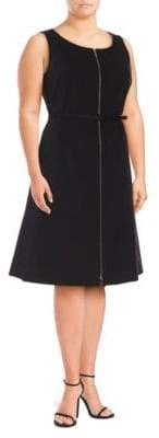 Lafayette 148 New York Plus Coralie Zippered Knee-Length Dress