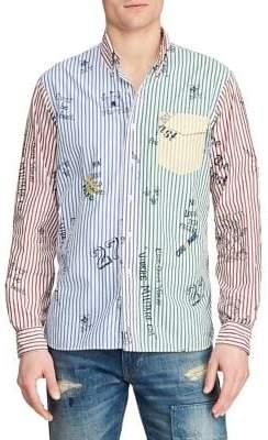 Polo Ralph Lauren Custom-Fit Graphic Striped Button-Down Shirt