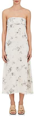 Calvin Klein Women's Silk Organza Strapless Bustier Dress $2,695 thestylecure.com
