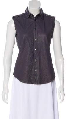 Gryphon Sleeveless Leather Top