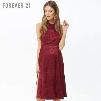 Forever 21 (フォーエバー 21) - Forever 21 フラワー&ストライプワンピース