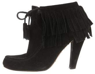 Gucci Fringe Ankle Boots
