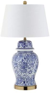 "Bed Bath & Beyond JONATHAN Y Ellis 29.5"" Ceramic LED Table Lamp in Blue/White"