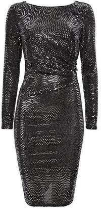 Wallis Silver Ruched Side Shift Dress