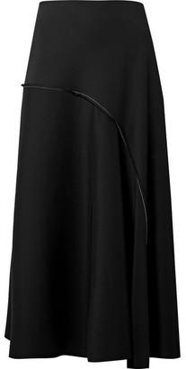 The Row Chouli Paneled Stretch-crepe Midi Skirt - Black