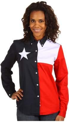 Roper Texas Pieced Flag Shirt Women's Clothing