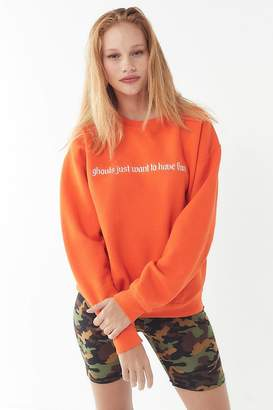 Urban Outfitters Ghouls Just Want To Have Fun Crew-Neck Sweatshirt