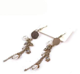K-DESIGN : 925 Sterling Silver Graceful Bow Knot & White Pearl Drop Earrings For Women Luxury Authentic