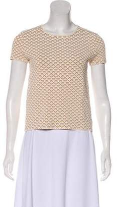 Theory Short Sleeve Scoop Neck Top