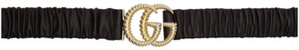 Gucci Black GG Marmont Belt