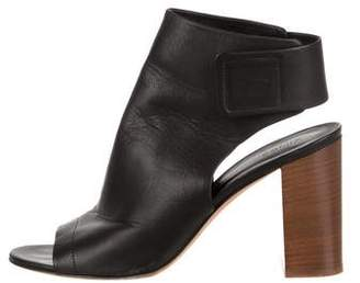 Vince Leather Ankle Booties