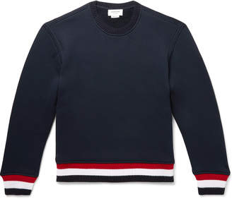 Thom Browne Loopback Cotton-Blend Jersey Sweatshirt - Men - Blue