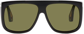 Gucci Black Thick Shield Sunglasses