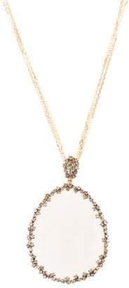 Suzanne Kalan 18K Moonstone & Diamond Pendant Necklace