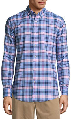 ST. JOHN'S BAY Long Sleeve Checked Button-Front Shirt