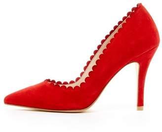 Pelle Moda Red Suede Heel
