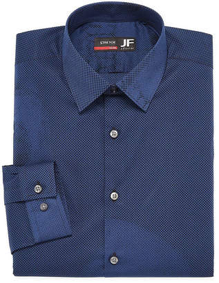 Jf J.Ferrar Easy Care Stretch Big And Tall Mens Point Collar Long Sleeve Stretch Dress Shirt