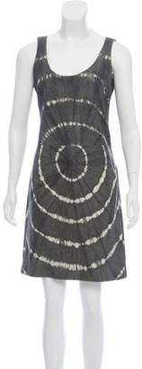 Tory Burch Leather Tie-Dye Dress