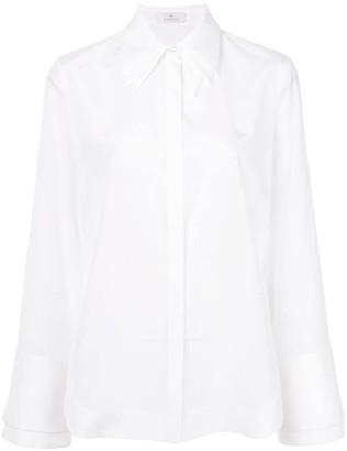 Capucci layered collar flared shirt
