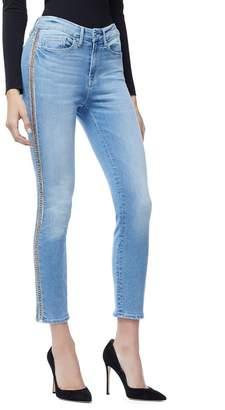 Good American Good Legs Crop Side Chains - Blue166