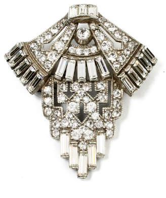 Ben-Amun Ben Amun Geometric Crystal Deco Brooch