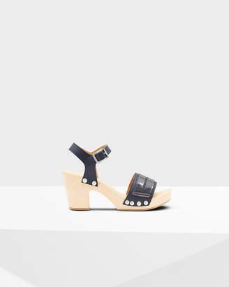 Hunter women's refined penny loafer clog sandals