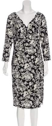 Lauren Ralph Lauren Midi Wrap Dress
