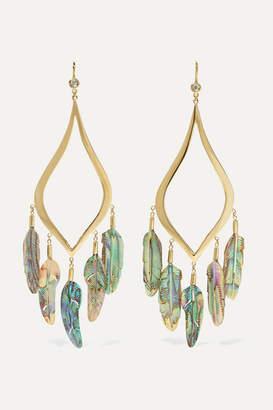 Jacquie Aiche 14-karat Gold, Diamond And Shell Earrings