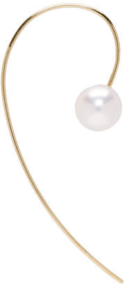Pearls Before Swine Gold Single Akoya Pearl Earring