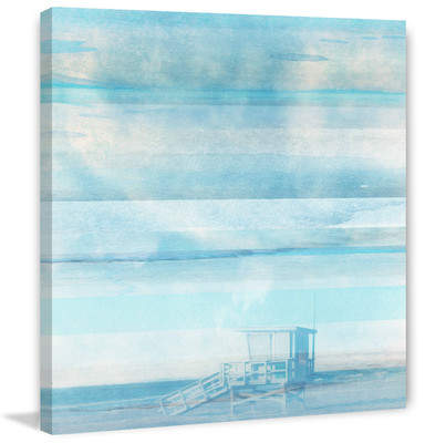 Wayfair Life Guard Shack Graphic Art Print on Wrapped Canvas