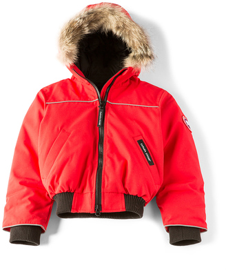 Canada Goose Grizzly Coyote Fur Trim Bomber $395 thestylecure.com