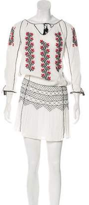 Ulla Johnson Embroidered Long Sleeve Dress