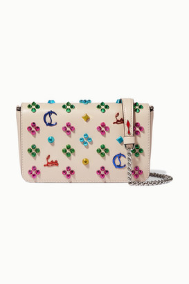 Christian Louboutin Zoompouch Studded Leather Shoulder Bag - Ivory