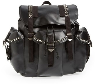 Junya Watanabe Studded Faux Leather Backpack - Black $1,120 thestylecure.com