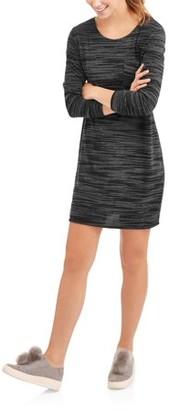 Mia Kaye Women's Long Sleeve Fleece T-Shirt Dress