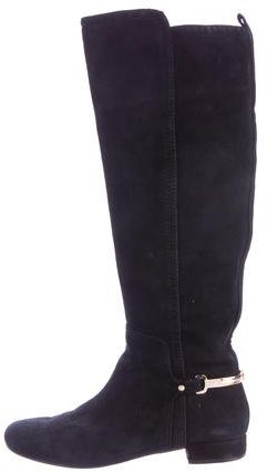 Tory BurchTory Burch Suede Round-Toe Boots