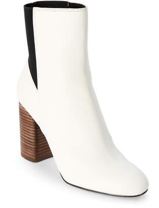 Dolce Vita White & Black Ramona Block Heel Boots