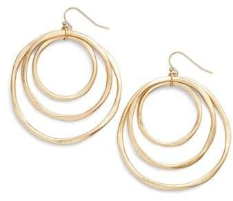 Triple Orbit Hoop Earrings