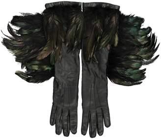 Ann Demeulemeester Leather long gloves