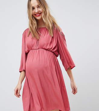 Mama Licious Mama.licious Mamalicious Boho Kimono Sleeve Dress