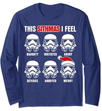Star Wars Stormtrooper Emotions Holiday Long Sleeve Tee