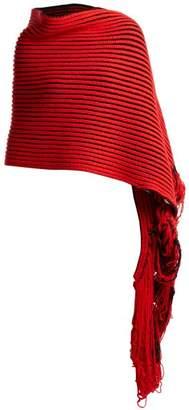 Balenciaga Virgin Wool Knit Scarf - Womens - Red