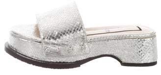 No.21 No. 21 Metallic Embossed Slida Sandals
