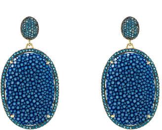 Latelita London - Stingray Pave Oval Earring Royal Blue