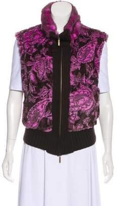 Etro Printed Fur Vest