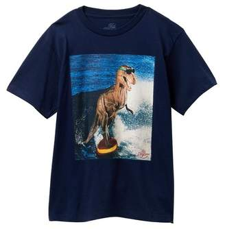 Kid Dangerous T-Rex Surfer Tee (Big Boys)
